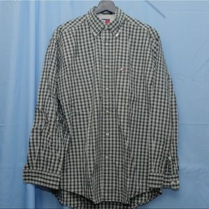 Tommy Hilfiger Green Plaid Button Down